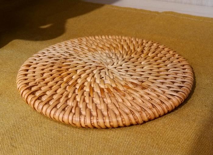 新品,竹藤垫,手工制作,茶杯垫,茶壶垫,养壶垫